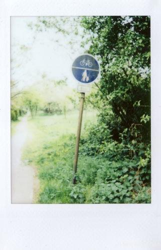 Blaues Schild